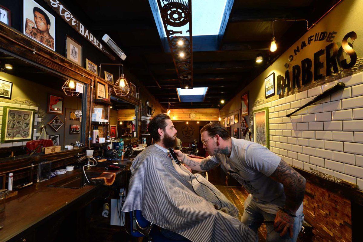 'The coolest barber shop in Joburg', Bonafide Barbers in Parkhurst.