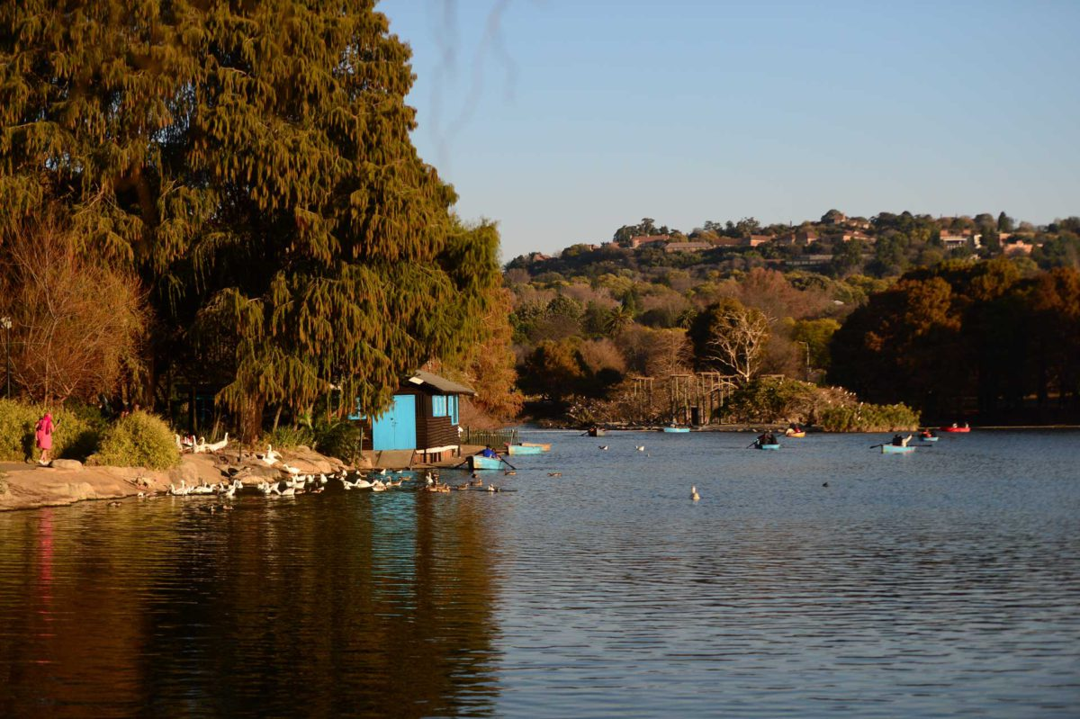 Zoo Lake with its boat house and ducks has outdoor appeal whatever the season.