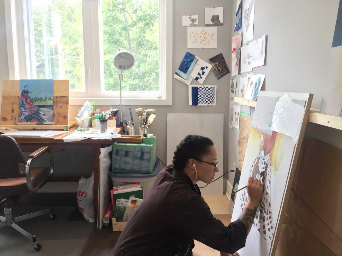 Pamela Phatsimo Sunstrum in her studio.
